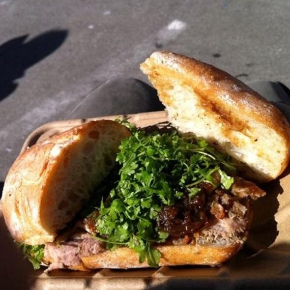 Porchetta Sandwich @ Roli Roti at the Ferry Building Farmer's Market