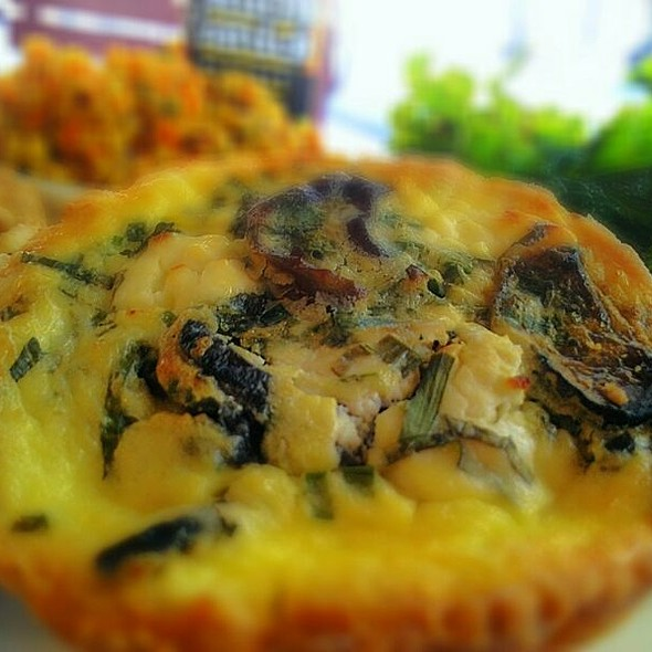 Eggplant, Goat Cheese, Fresh Mint & Chives Quiche @ Just Ripe