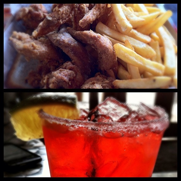 4 Piece Wing Meal And Watermelon Margarita @ Harold's Chicken & Ice Bar