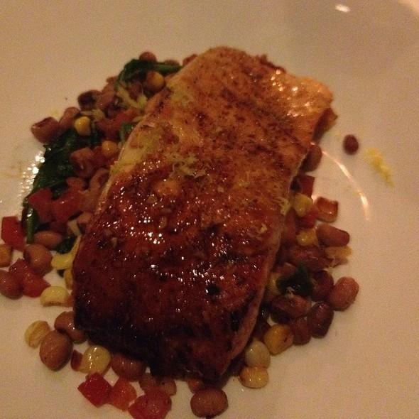 Honey Chili Glazed Salmon With Corn Mashed Potatoes & Sauteed Spinach - Morton's The Steakhouse - Dallas, Dallas, TX