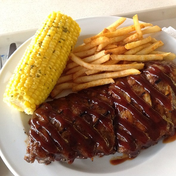 Honey Bourbon Ribs @ Astons Express