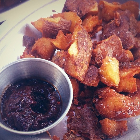 Fried Potatoes With Chipotle And Aioli Dip @ Woodshed Smokehouse