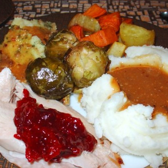 Turkey dinner @ Justafoodie's by Invitation