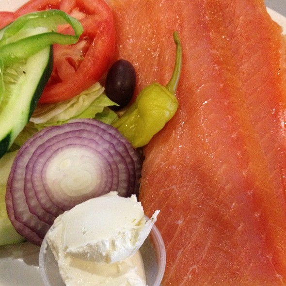 Bagel with Lox @ Boulevard Diner