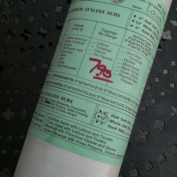 Italian Cold Cut Sub