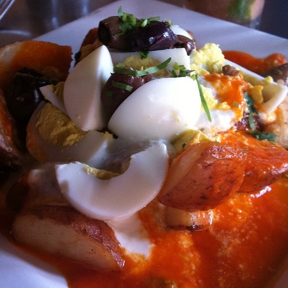 Papas A La Huanicaina @ AJI Restaurant