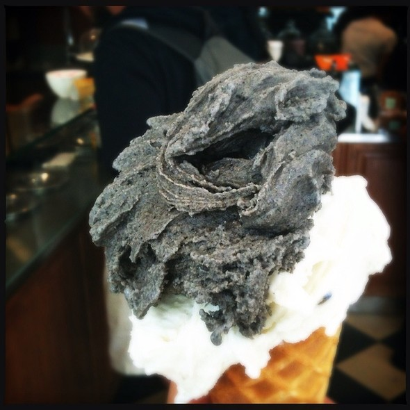 Black Sesame And Lavender Gelati @ Bella Gelateria