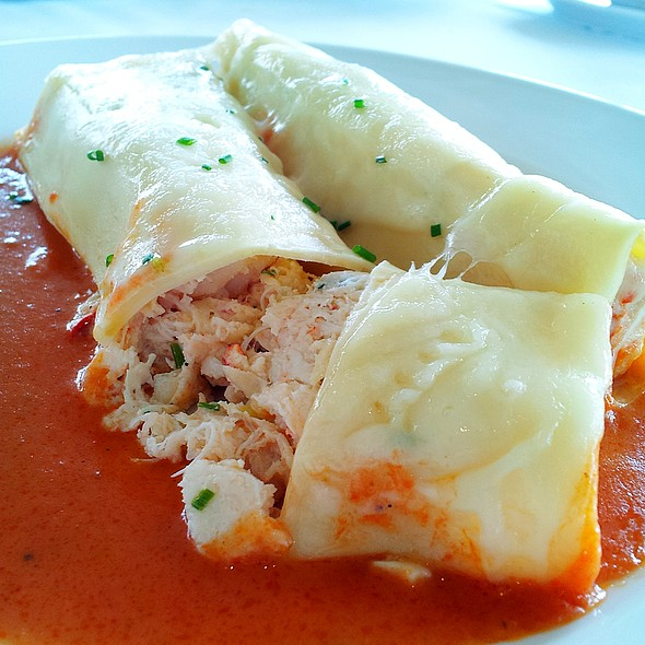 Seafood Cannelloni - Up Restaurant, Houston, TX