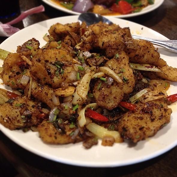 Spicy Szechuan Crispy Fish @ Jade Garden