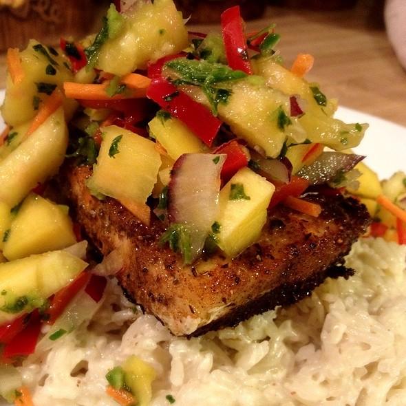 Blackened Mahi Mahi With Mango Salsa And Coconut Rice @ Where Our Heart Is