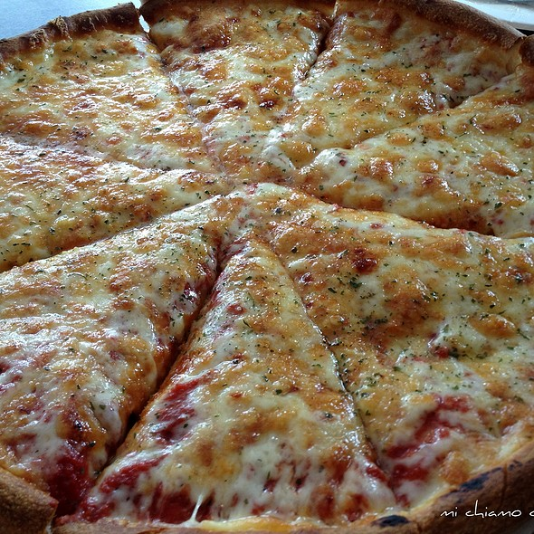 cheese pizza @ Village Pizza of Newport