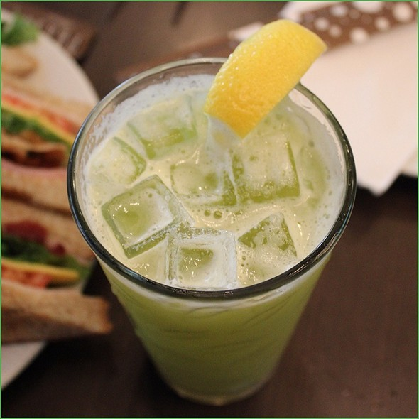 Cucumber Avocado Carrot Honey Juice @ Panya Bistro
