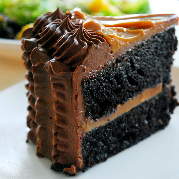 Double Chocolate Yema Cake @ Slice