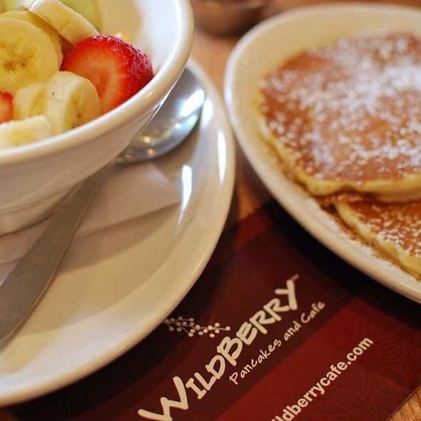 Pancakes And Fruit @ Wildberry Pancakes & Cafe