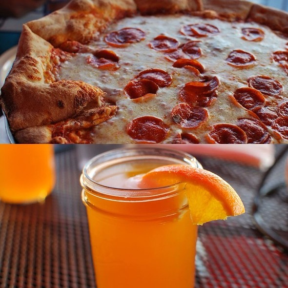 Pepperoni Pizza And Blue Moon Beer @ MAFIAoZA'S 12South