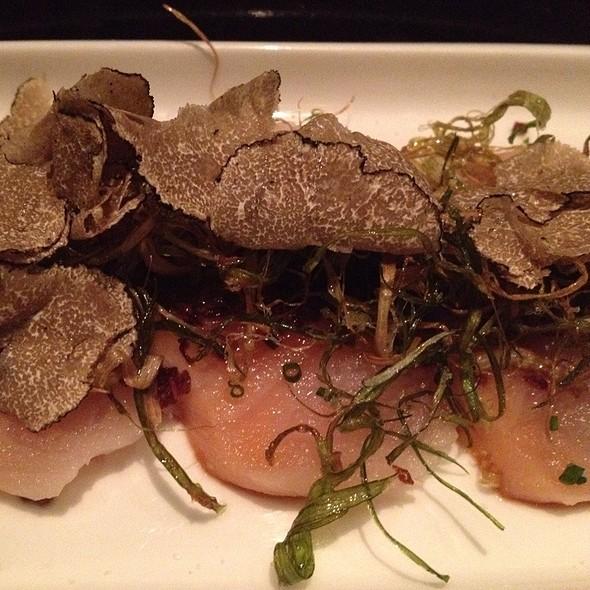 White Salmon Sashimi With Truffle - Oishii Boston, Boston, MA