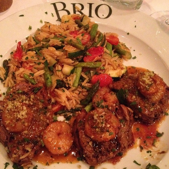 Beef Medallions With Shrimp Scampi @ Brio Tuscan Grille