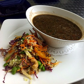 Black Bean And Chorizo Soup - Nasher Cafe
