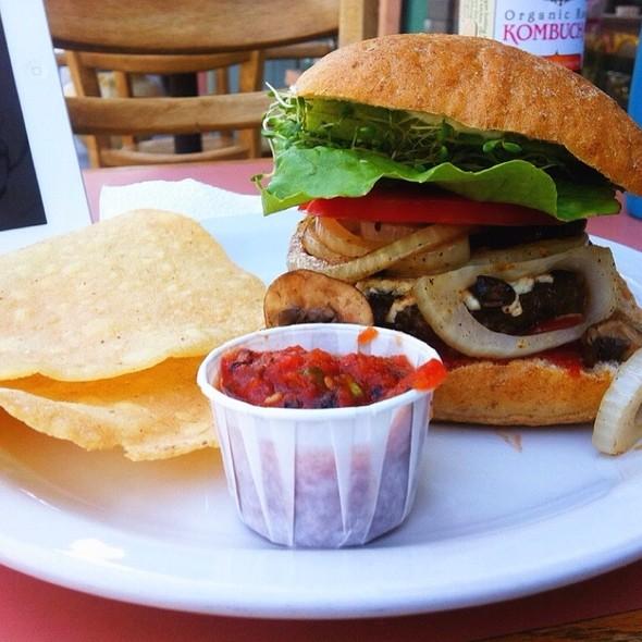 Veggie M F Burger @ Zephyr Vegetarian Cafe