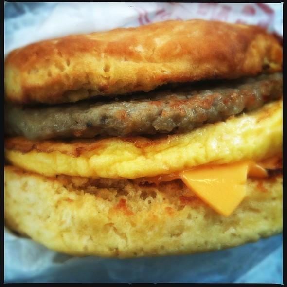Sausage Egg Cheese Biscuit Sandwich @ Tim Horton's