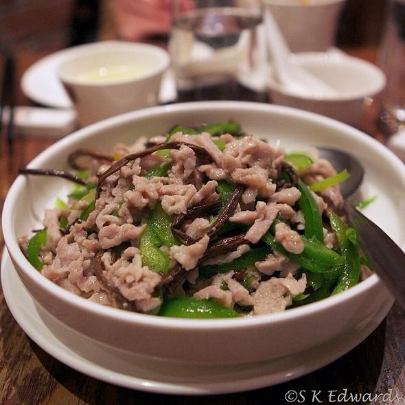 Tea Tree Mushroom W/Shredded Pork @ HuTong Dumpling Bar