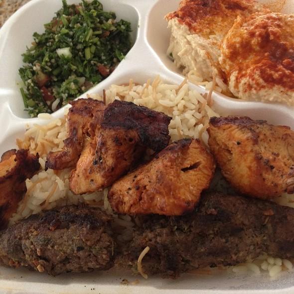 Chicken And Kafta Kabab @ Byblos Mediterranean Grill