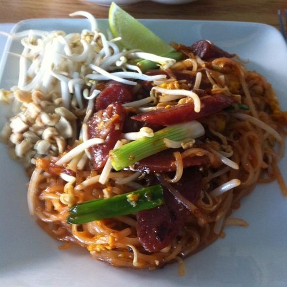 Thai Sausage Pad Thai @ Thai Village