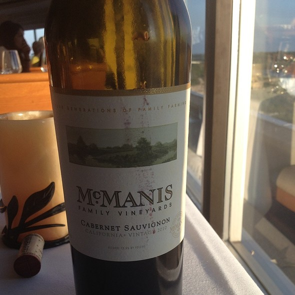 Mcmanis Cabernet Sauvignon - The Rainbow Room by Massimo Capra, Niagara Falls, ON
