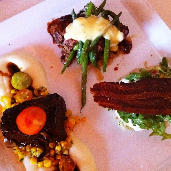 Domestic Wagyu Tenderloin and Braised Beef Shortrib Duo @ Market Restaurant+Bar