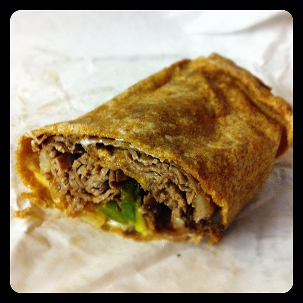 Philly Cheese Steak Wrap @ Stacked Deli