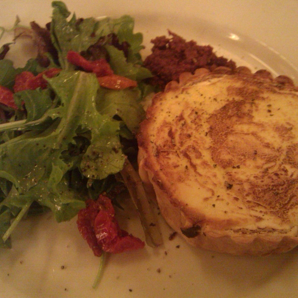 Warm Goat Cheese and Caramelized Onion Tart @ Balthazar Restaurant