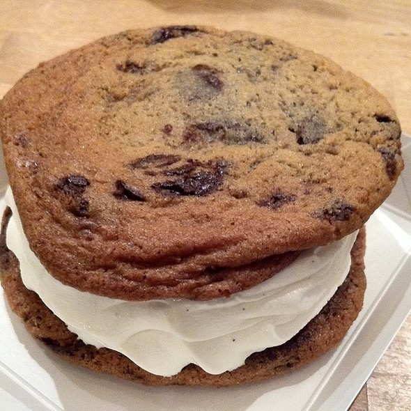 Chocolate Chip Ice Cream Sandwich @ Dessert Club ChikaLicious