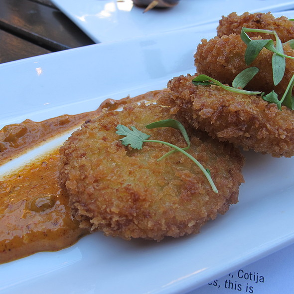 fried green tomatoes with gremolata @ Red Rabbit Kitchen & Bar