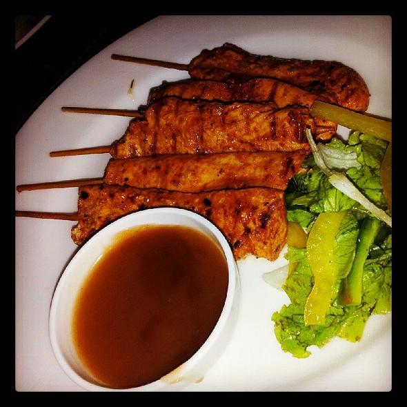 Paprika chicken sticks with plum sauce: good stuff :) @ Boheme