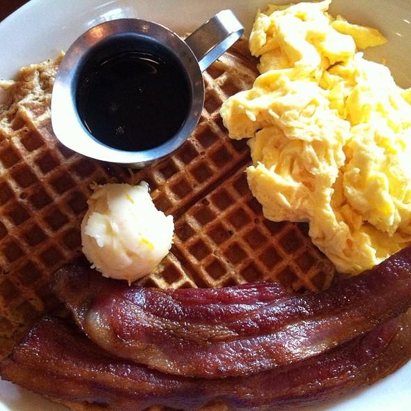 Waffle with cinnamon @ Coastal Kitchen