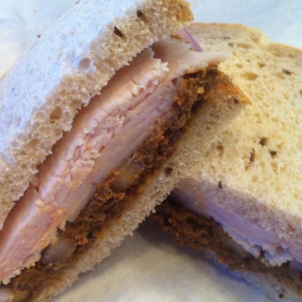 Turkey/chopped liver Combo On Rye @ Kosher Cajun Ny Deli & Grocery