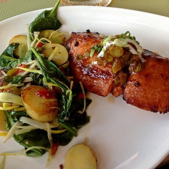 Cedar Plank Salmon - Elliott's on Linden, Pinehurst, NC