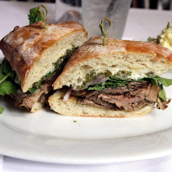 Grilled Tri Tip Sandwich on Bread Store Ciabatta @ Mulvaney's B & L
