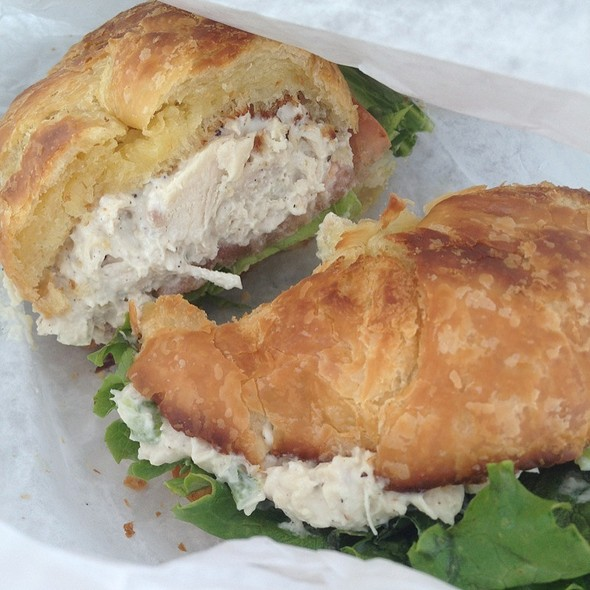 Chicken Salad on Croissant @ Famous Uncle Al's Hot Dogs
