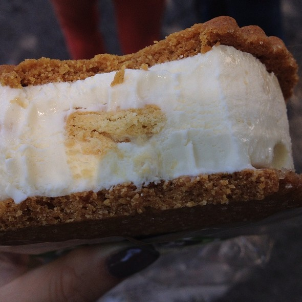 Lemon Cookie Ice Cream Sandwich