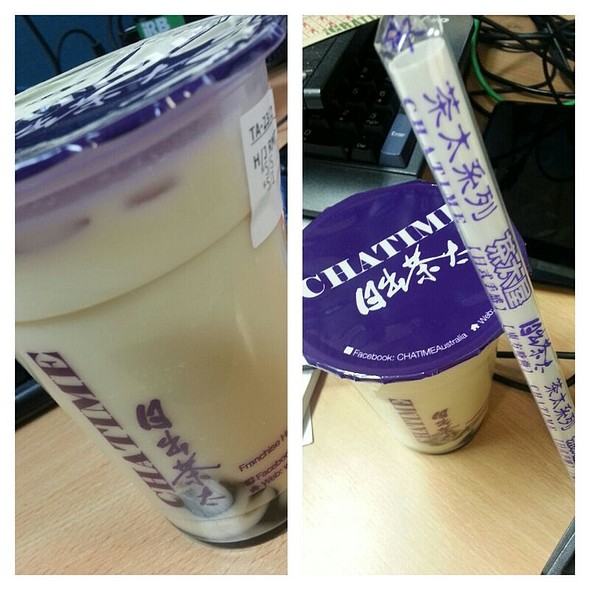 Roasted Milk Tea With Herbal Jelly