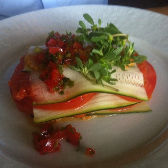 Vegan Raw Lasagna @ The Fat Cow and Oyster Bar