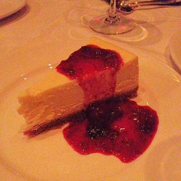 Baked American Cheesecake With Mixed Berry Sauce - Gotham Steakhouse and Bar, Vancouver, BC