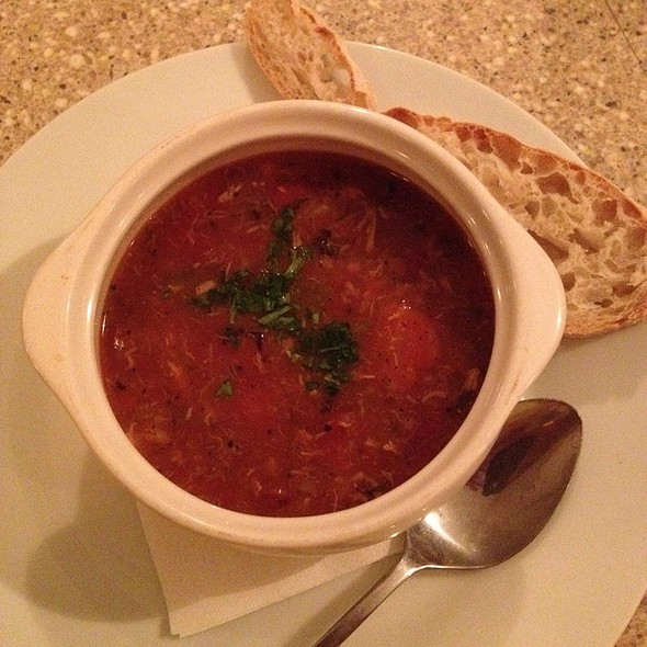 Manhattan Crab Chowder - The Bistro at Topsail, Surf City, NC