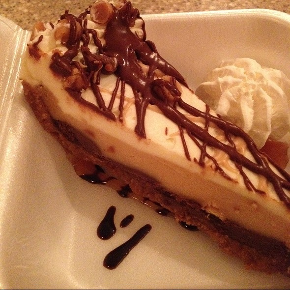 Chocolate Peanut Butter Pie - The Bistro at Topsail, Surf City, NC