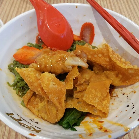 Wan Ton Spinach Noodle @ Noodle Stall@ Kopi Yew Tee Square