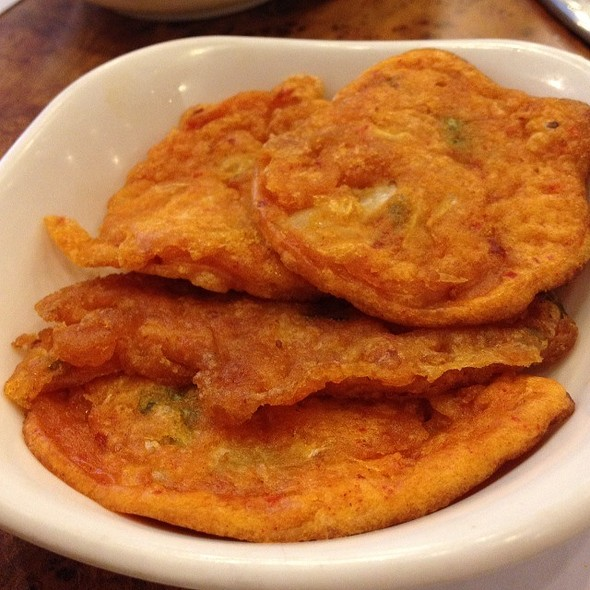 Sweet Potato Fritter @ Mu Jin Jang Korean BBQ Restaurant