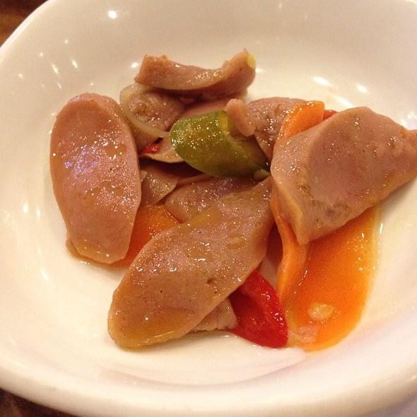 Marinated Sausage  @ Mu Jin Jang Korean BBQ Restaurant
