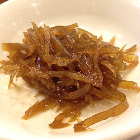 Pickled Radish In Soy Sauce  @ Mu Jin Jang Korean BBQ Restaurant