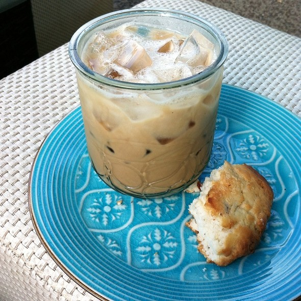 Iced Thai Latte With Cranberry Walnut Scone